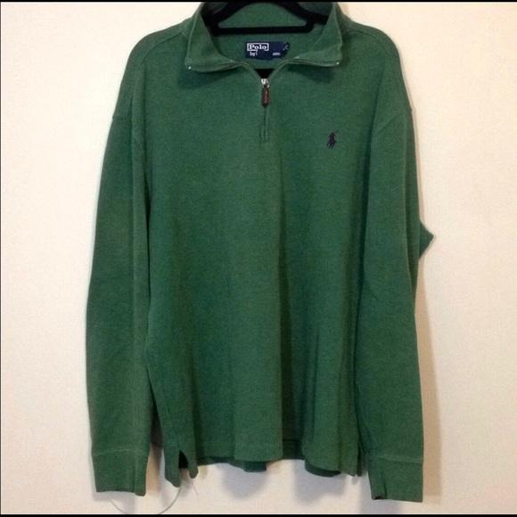 e0330eeb Polo Ralph Lauren Green 100% Cotton Pullover